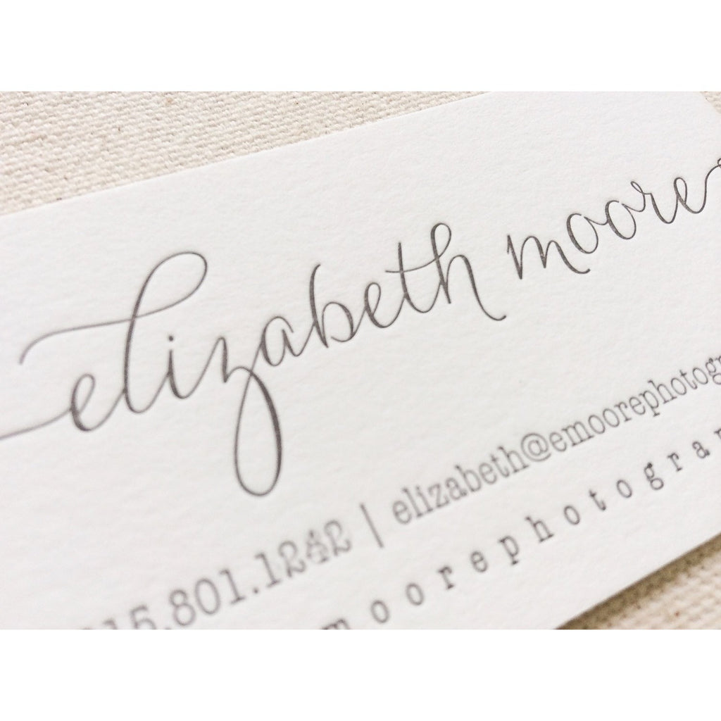 Elizabeth - Letterpress Business Cards