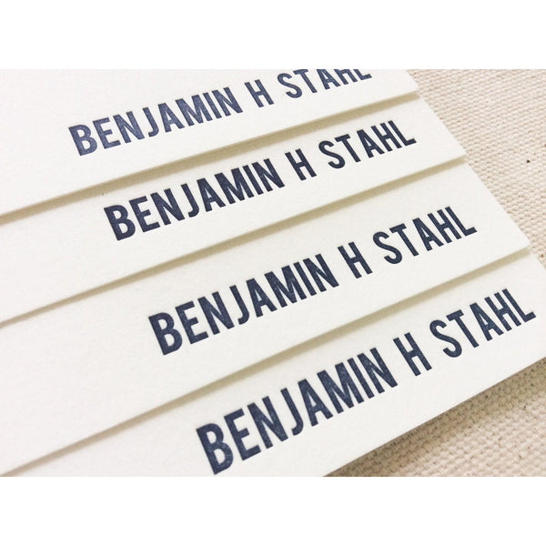 Benjamin - Letterpress Stationery
