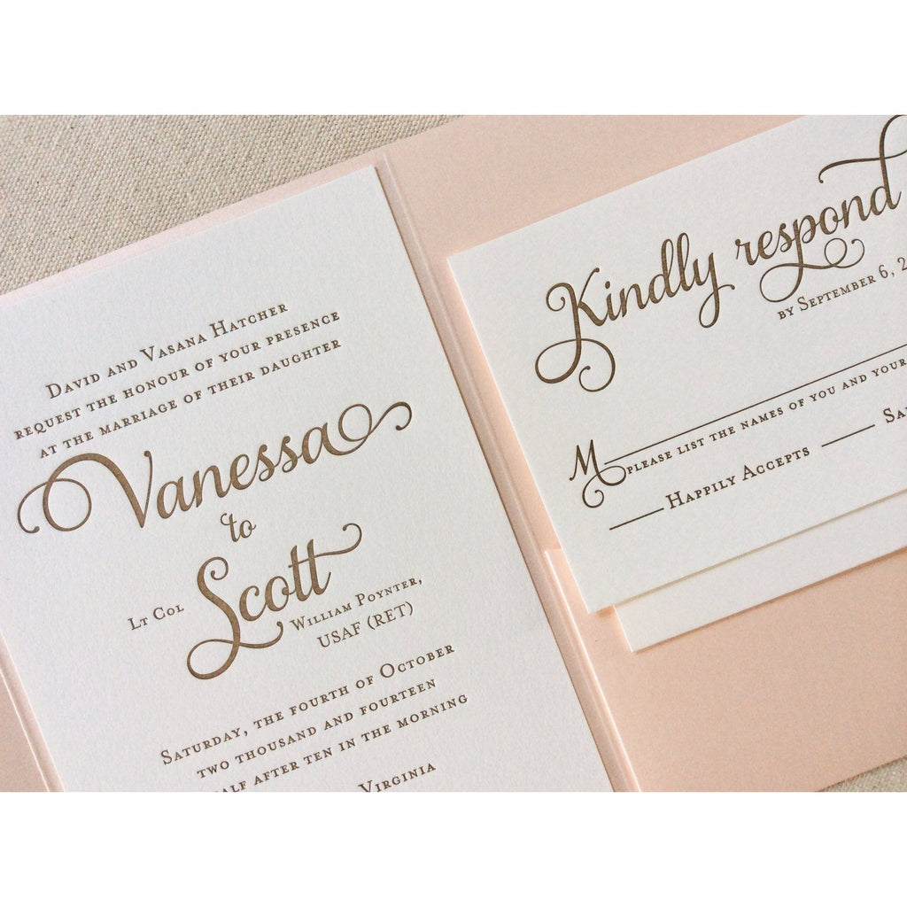 The Tulip Suite - Letterpress Wedding Invitations