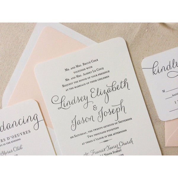 The Verbena Suite - SAMPLE Letterpress Wedding Invitation