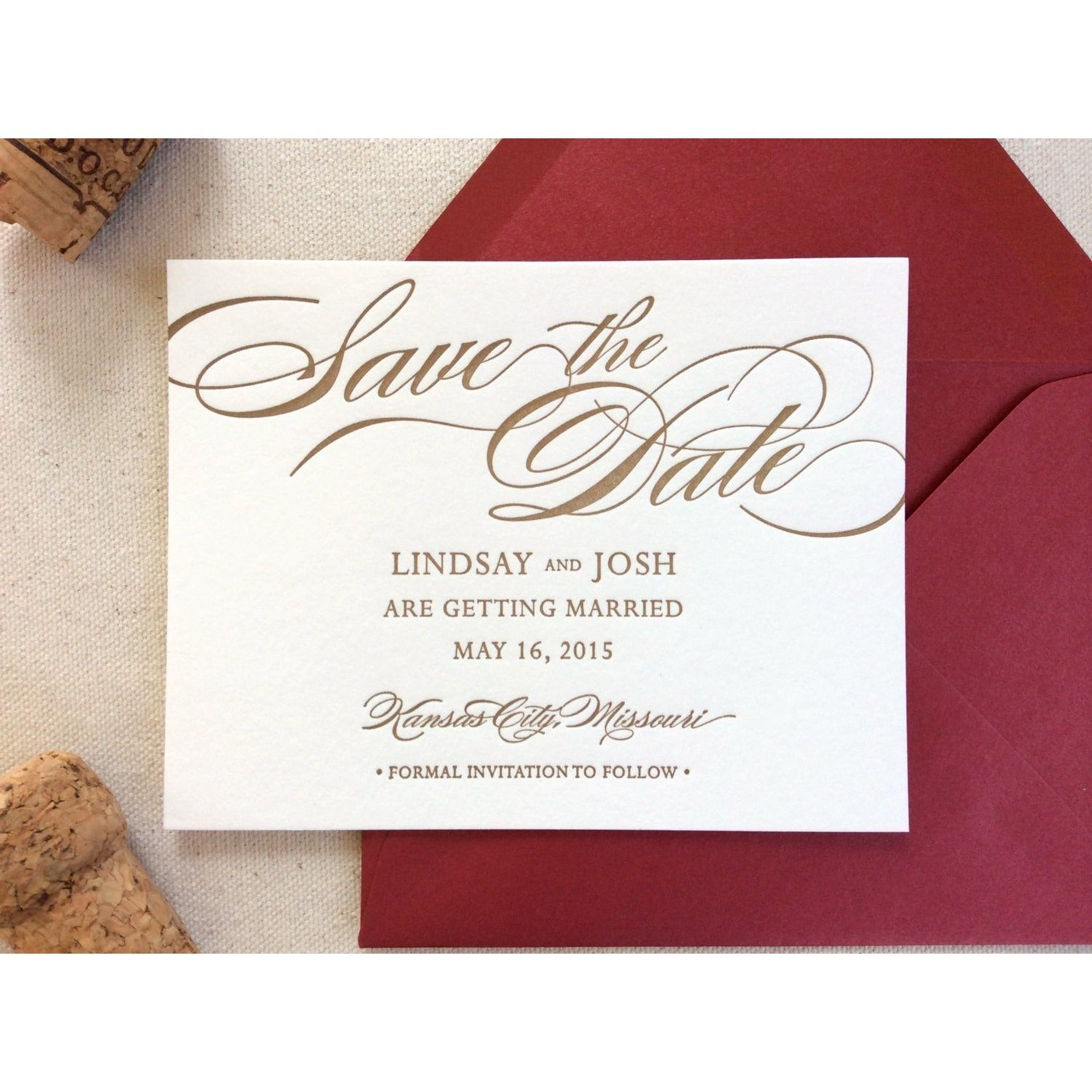 The Begonia Suite - Letterpress Save the Dates