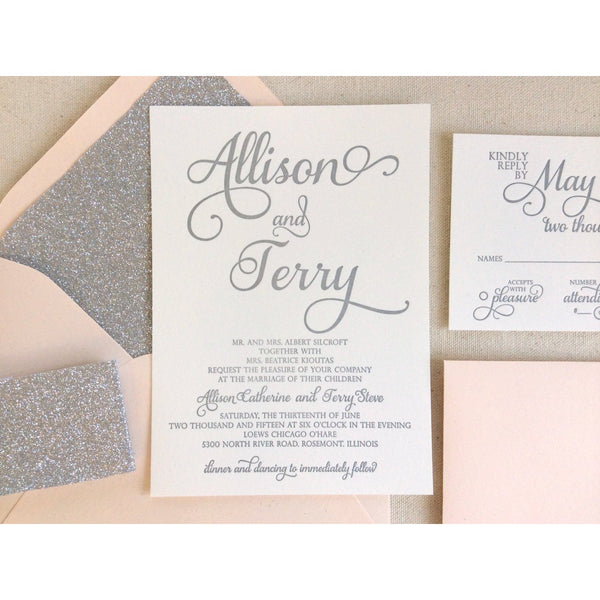 The Stargazer Suite - Letterpress Wedding Invitations