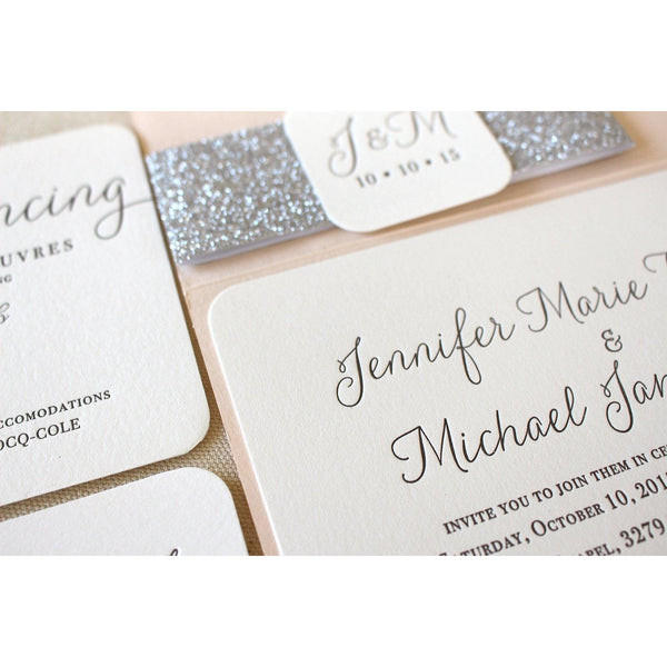 The Willow  Suite - Letterpress Wedding Invitations