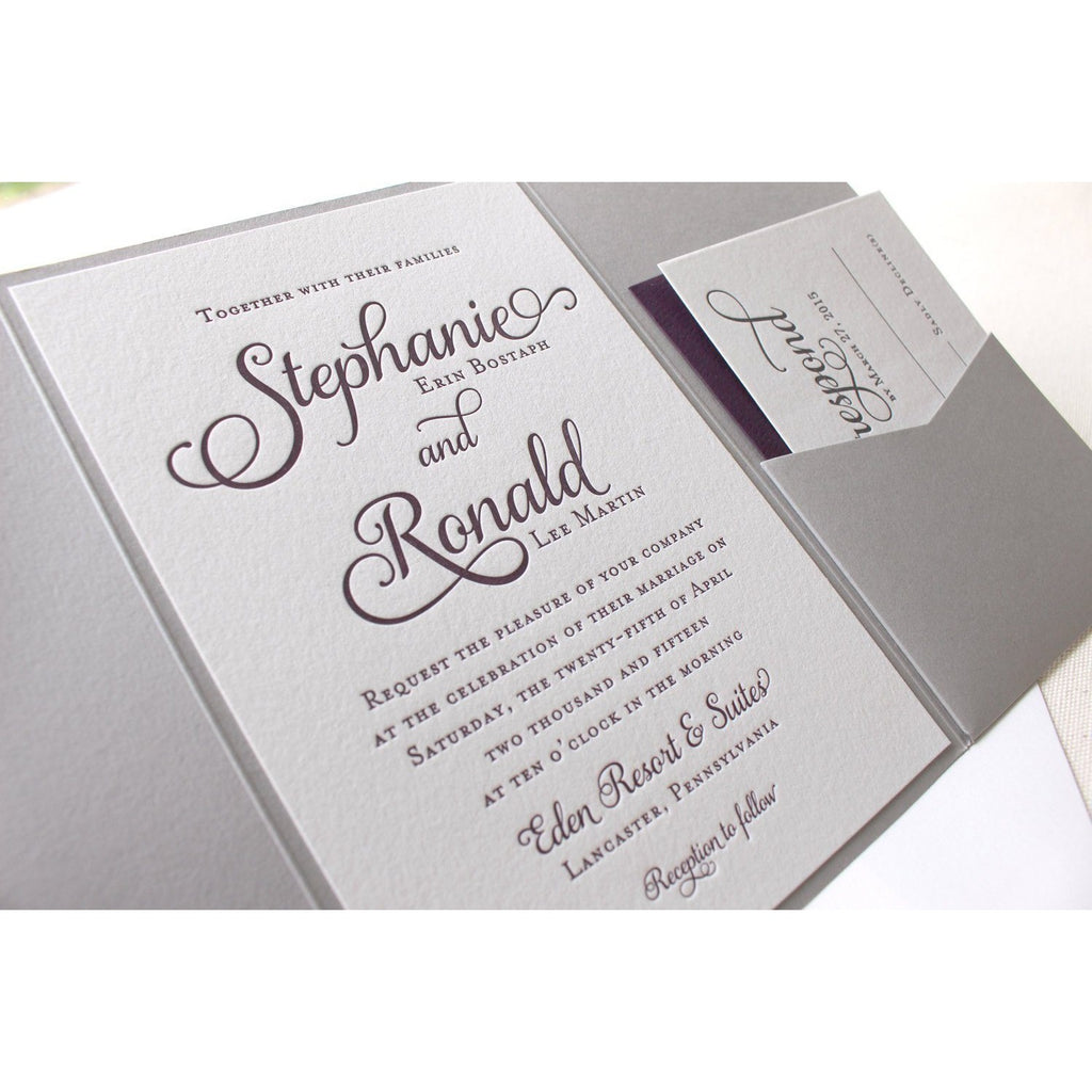 The Violet Suite - Letterpress Wedding Invitations