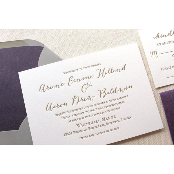 The Wildflower Suite - Letterpress Wedding Invitations