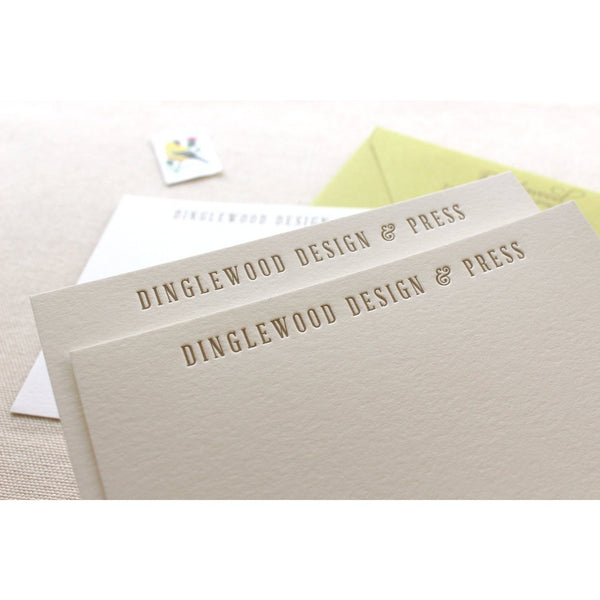 Dinglewood - Letterpress Business Stationery