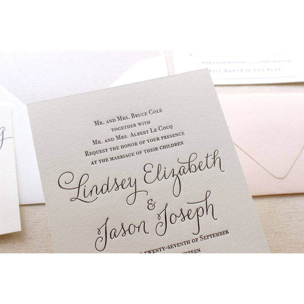 The Belle Suite  - Letterpress Wedding Invitations