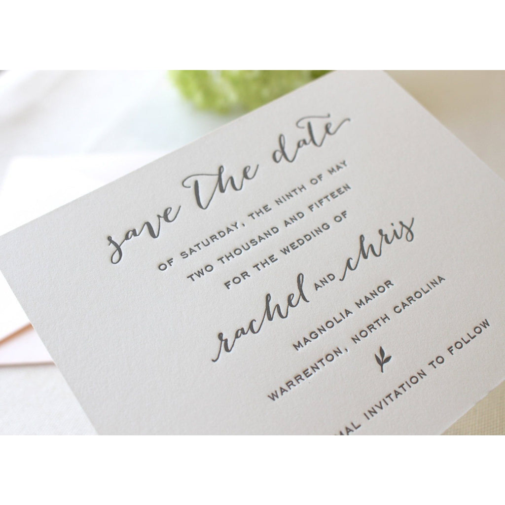 The Magnolia Suite  - Letterpress Save the Dates