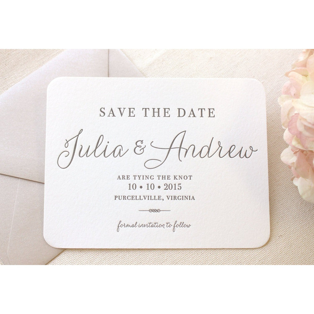 The Verbena Suite - Letterpress Save the Dates