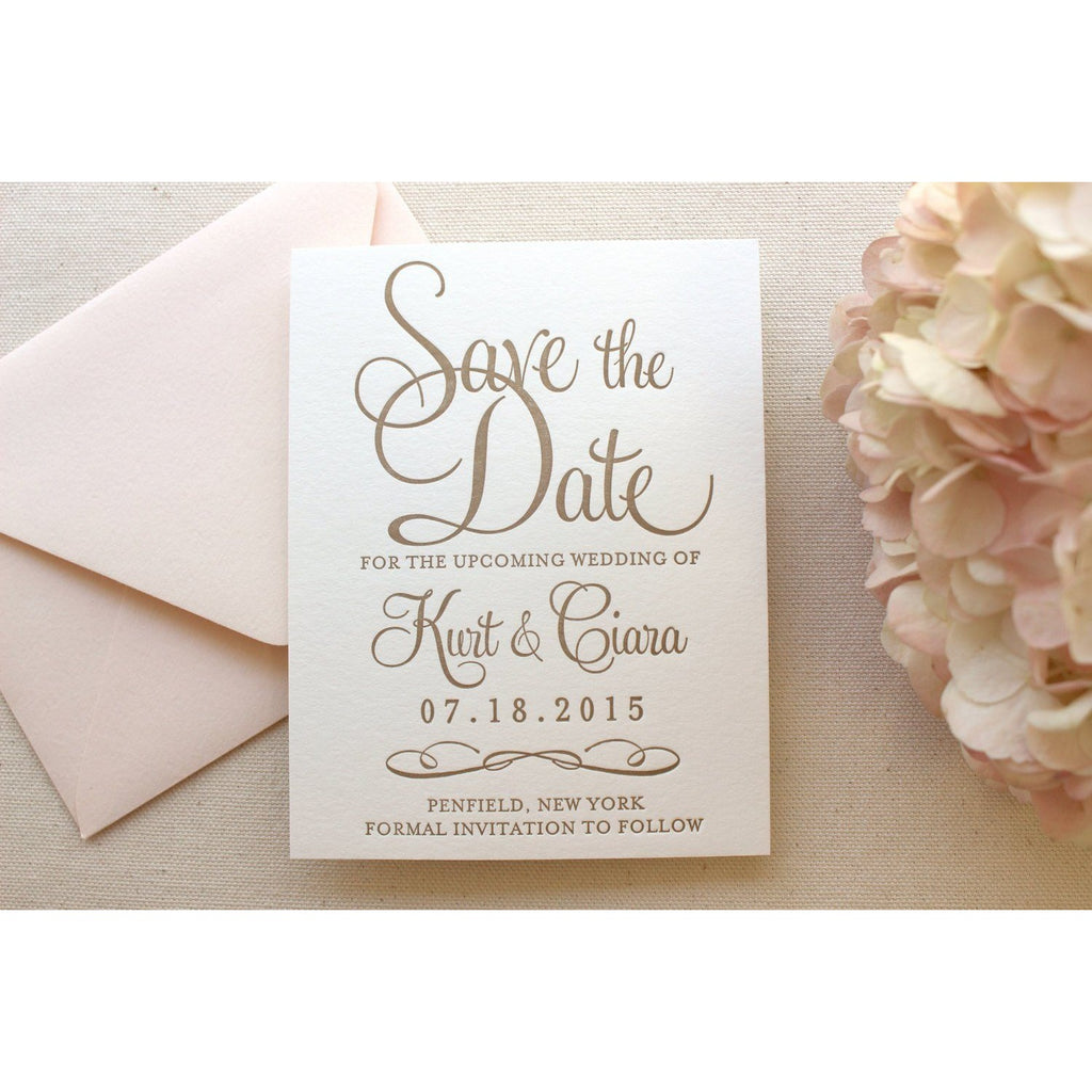 The Hydrangea Suite - Letterpress Save the Dates