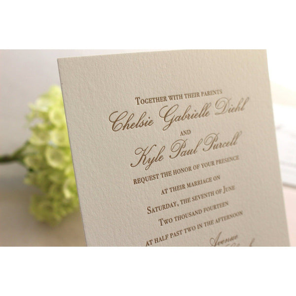 The Azalea Suite  - SAMPLE Letterpress Wedding Invitation