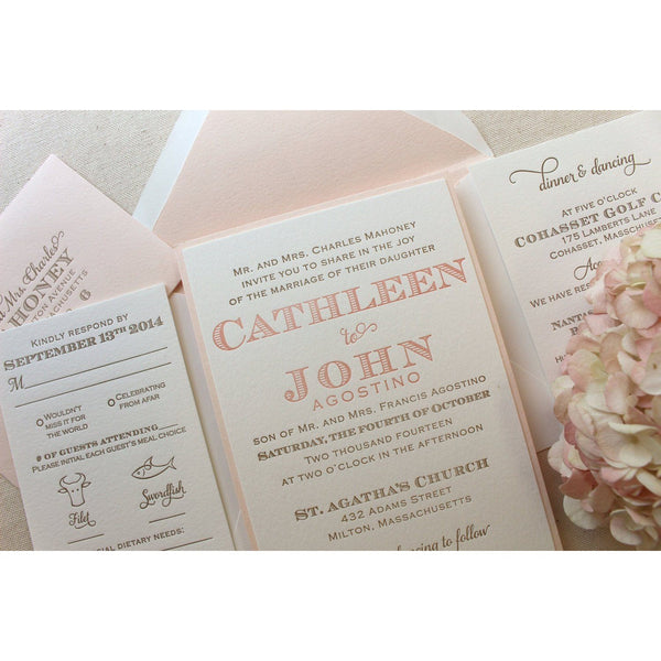 The Laurel Suite  - Letterpress Wedding Invitations