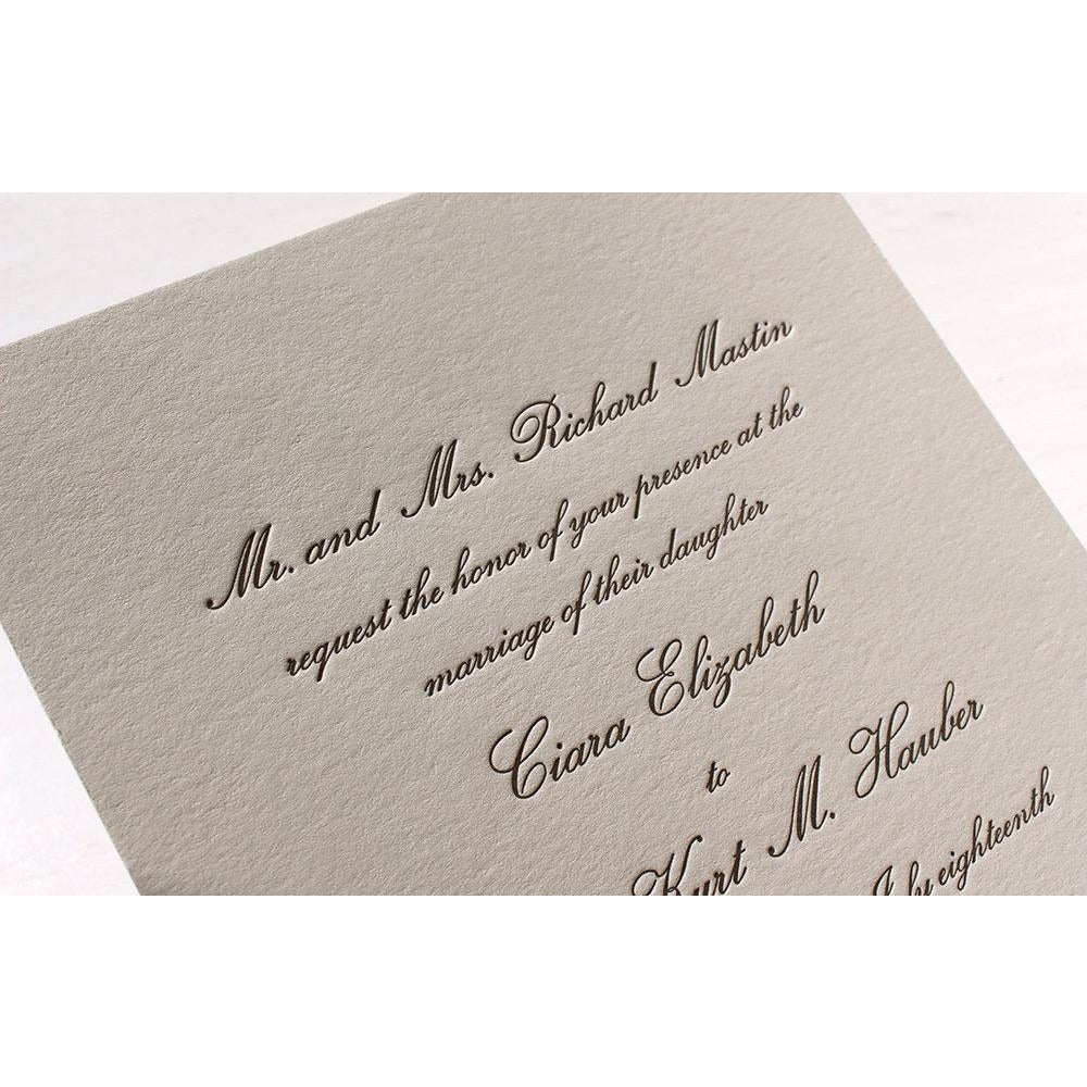The Conservatory Suite  - Letterpress Wedding Invitations