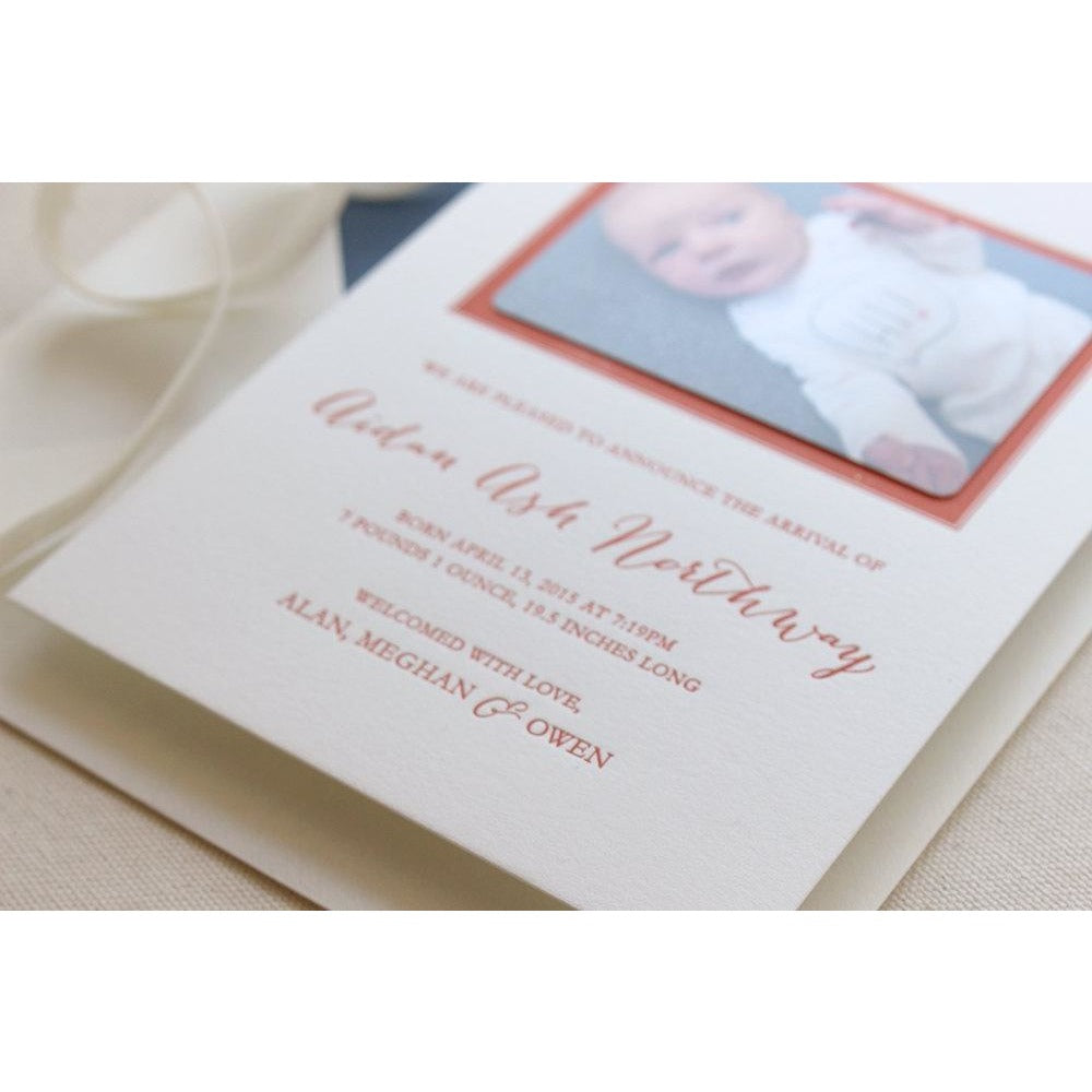 Aidan - Letterpress Birth Announcements