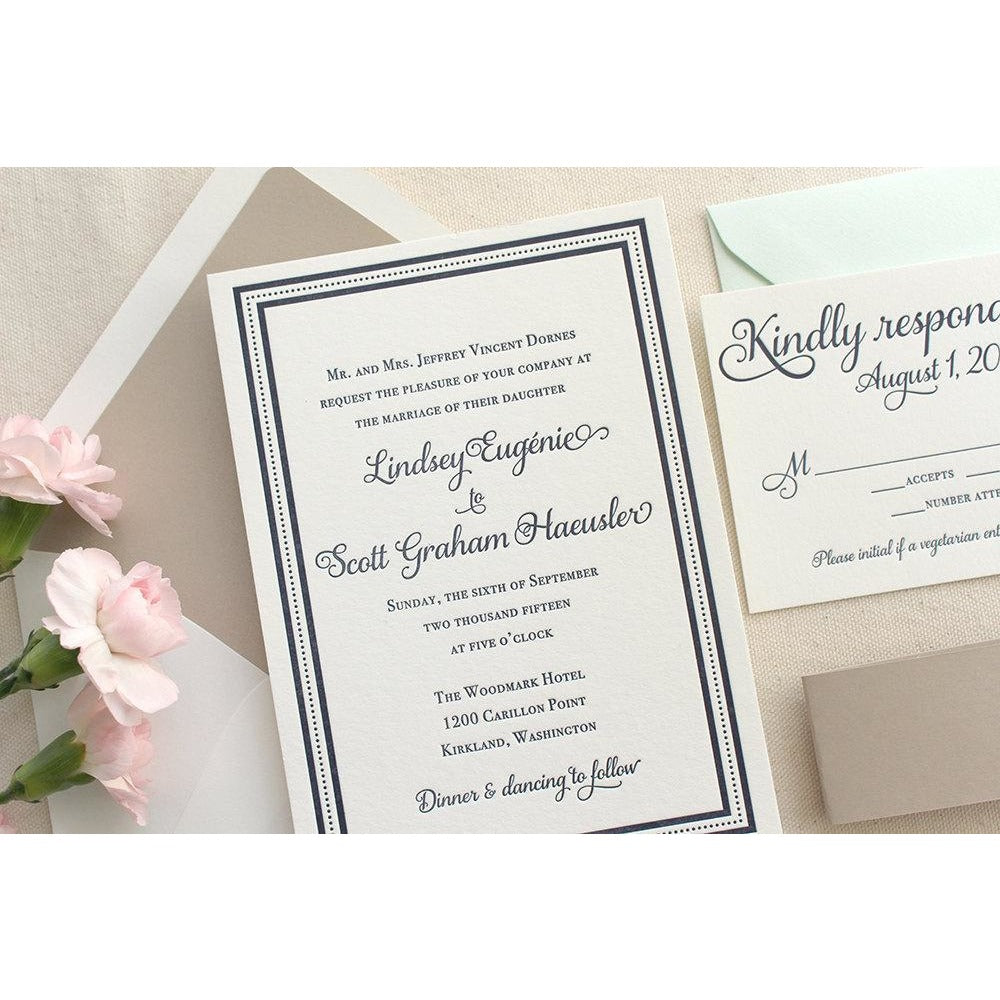 The English Garden Suite  - Letterpress Wedding Invitations