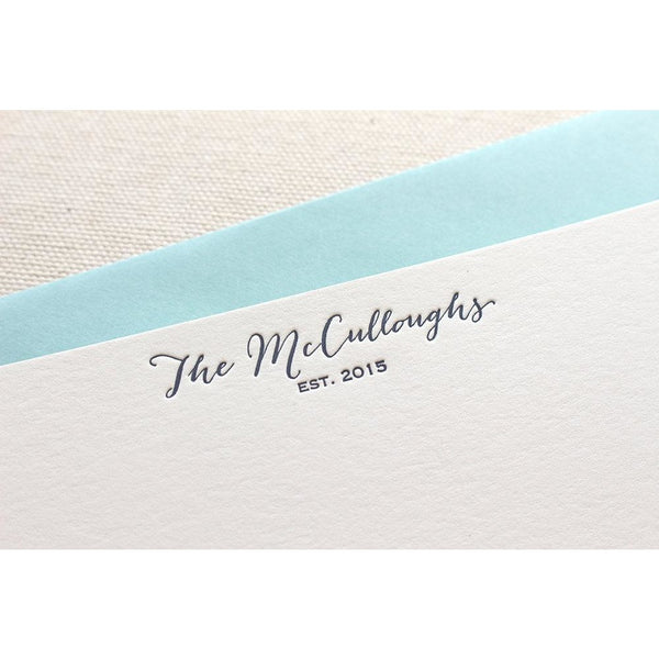 McCulloughs - Letterpress Stationery