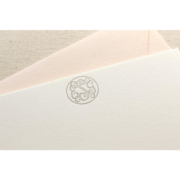 Vine Monogram - Letterpress Stationery