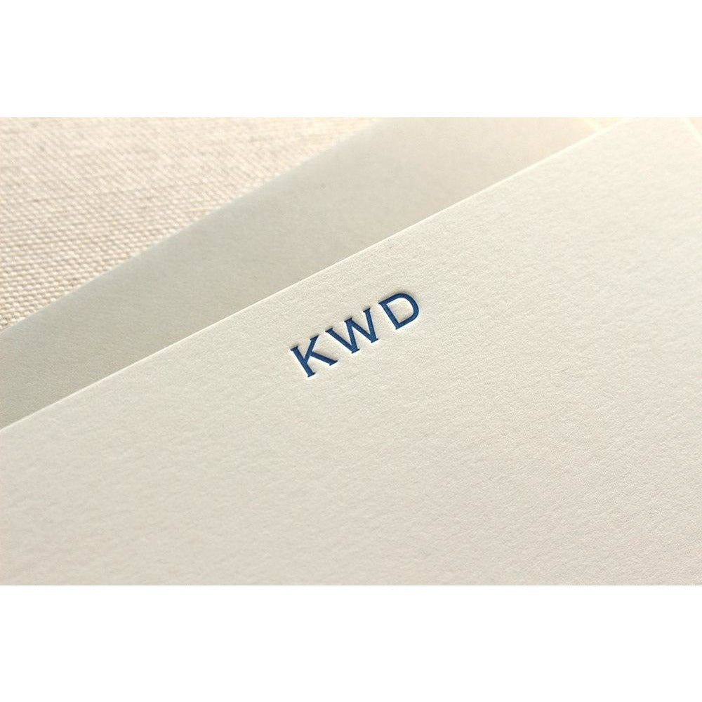 Copperplate Monogram - Letterpress Stationery