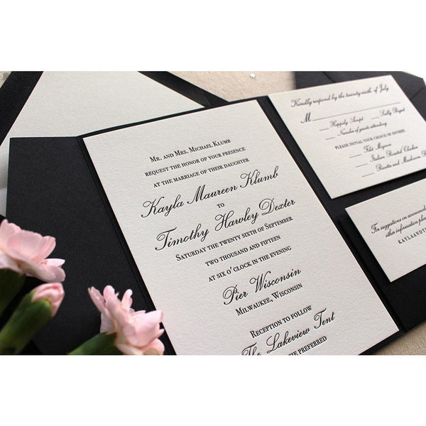 The Orchid Suite - Letterpress Wedding Invitations
