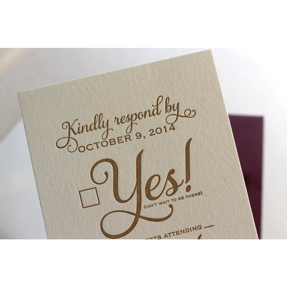 Email Wedding Invites: Letterpress Wedding Invitations