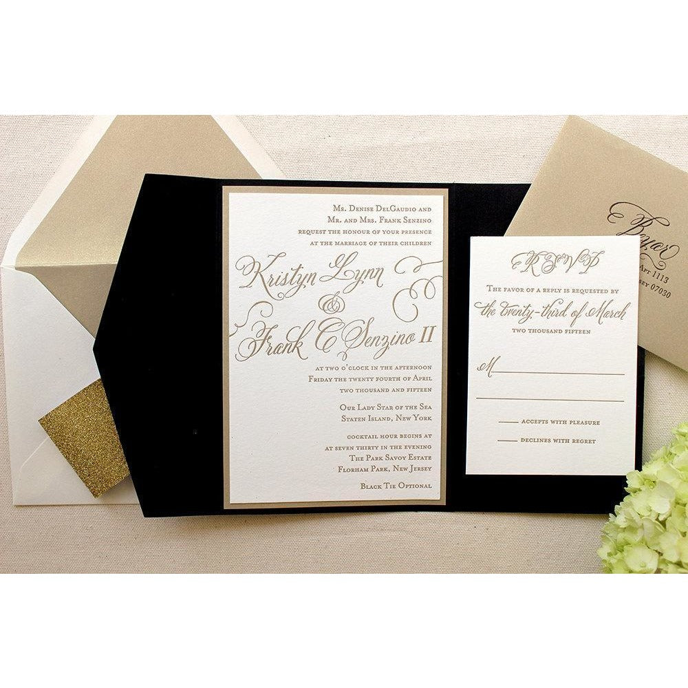 The Begonia Suite  - Letterpress Wedding Invitations