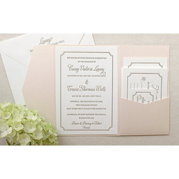 The Audrey Suite - Letterpress Wedding Invitations