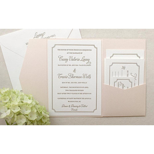 The Audrey Suite - SAMPLE Letterpress Wedding Invitation