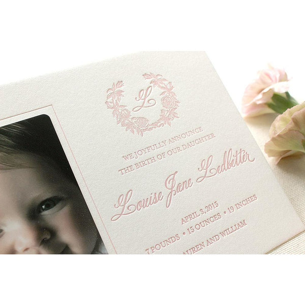 Louise - Letterpress Birth Announcements