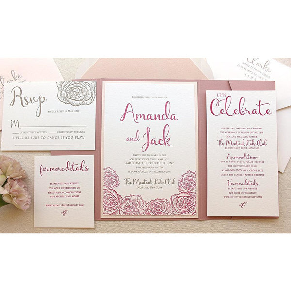 The Montauk Suite - Letterpress Wedding Invitations