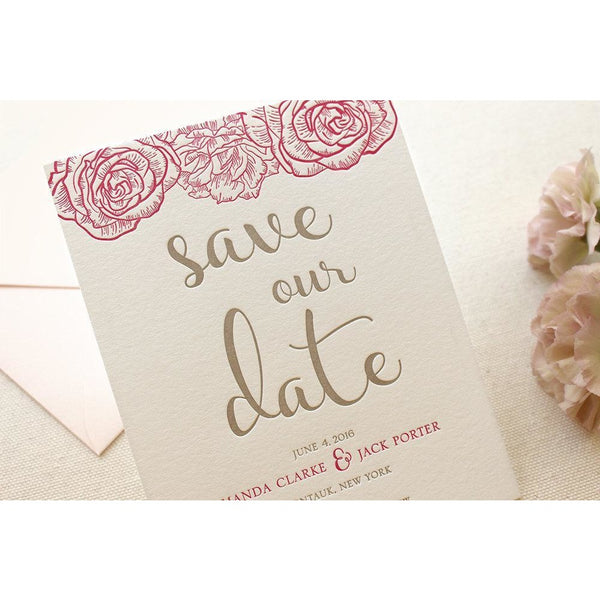 The Montauk Suite - Letterpress Save the Dates
