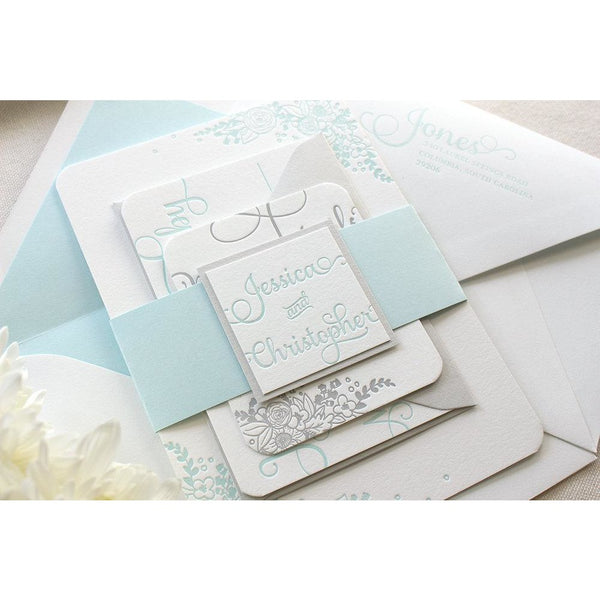 The Zinnia Suite - Letterpress Wedding Invitations