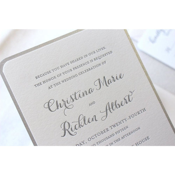 The Snowdrop Suite - Letterpress Wedding Invitations
