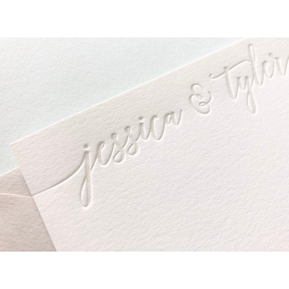 Jessica and Tyler - Letterpress Stationery