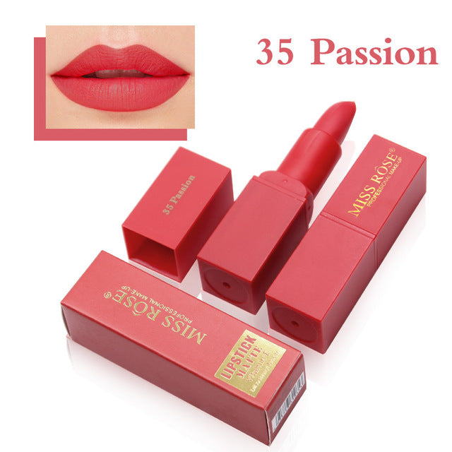 Long Lasting Matte Lipstick (12 Colors)