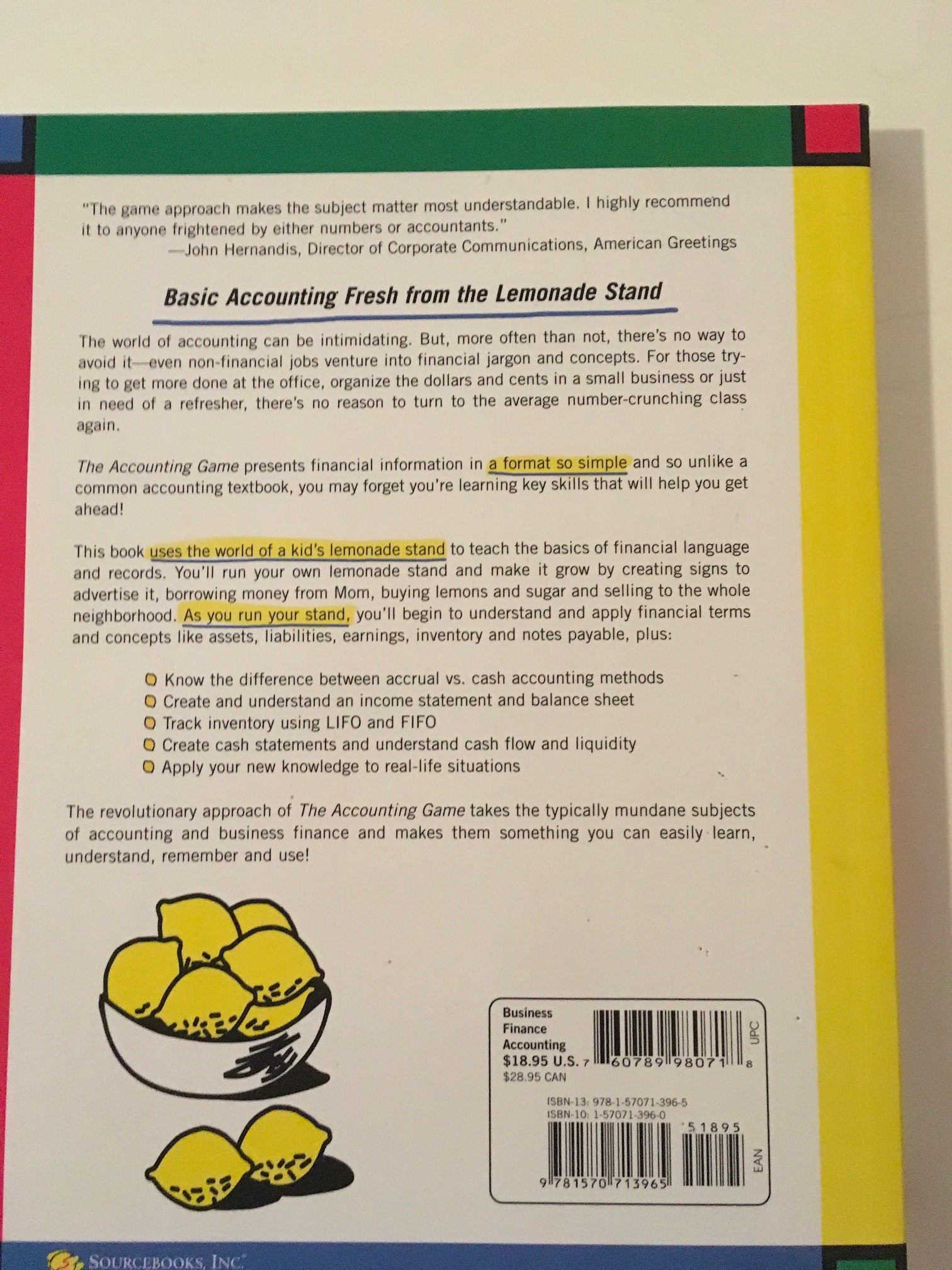 The Accounting Game Paperback Book 1998 Darrell Mullis And Judith Orl