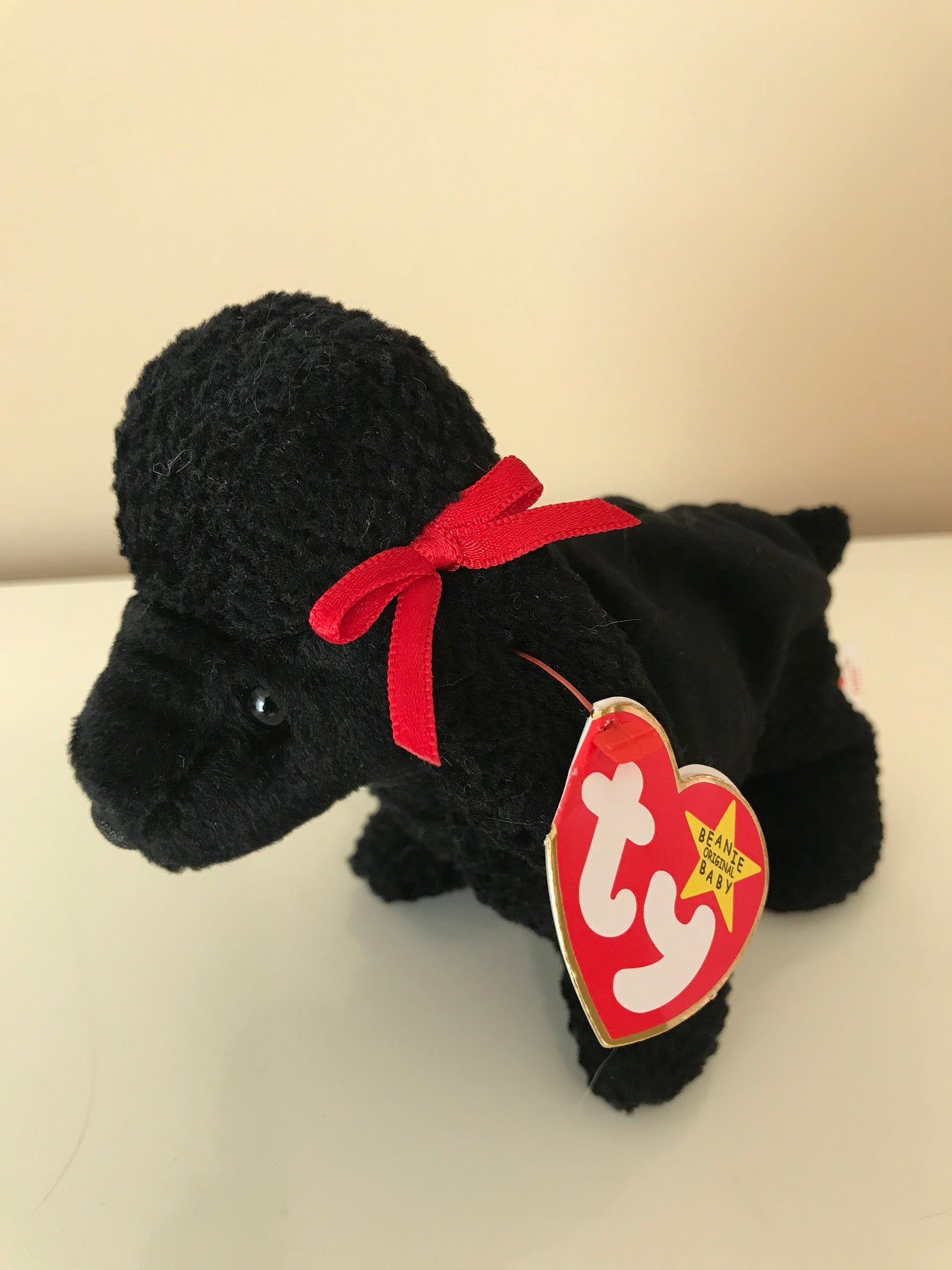 ... TY Beanie Babies Gigi The Poodle Dog Stuffed Animal Plush Toy Black 7