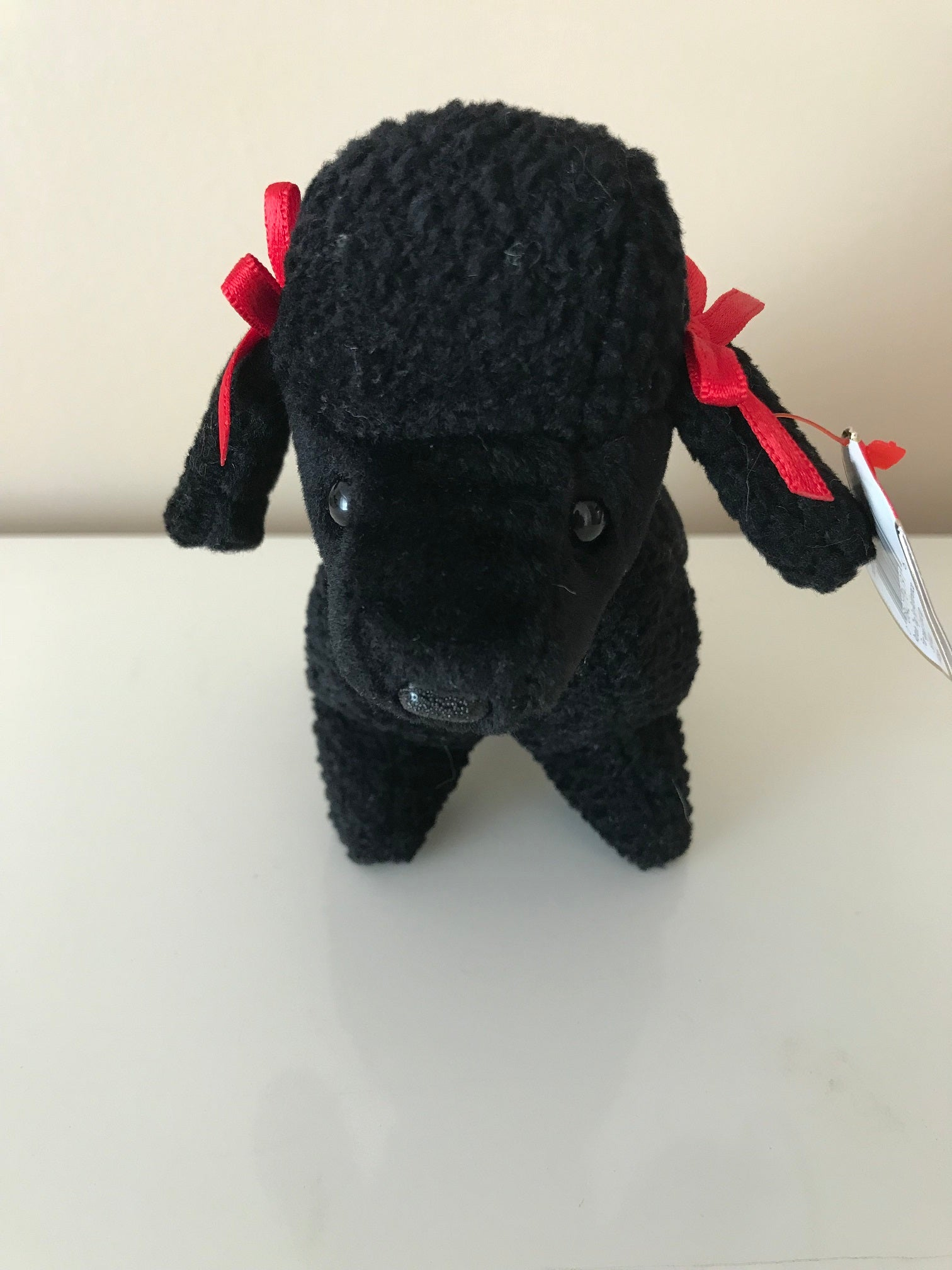 TY Beanie Babies Gigi The Poodle Dog Stuffed Animal Plush Toy Black 7
