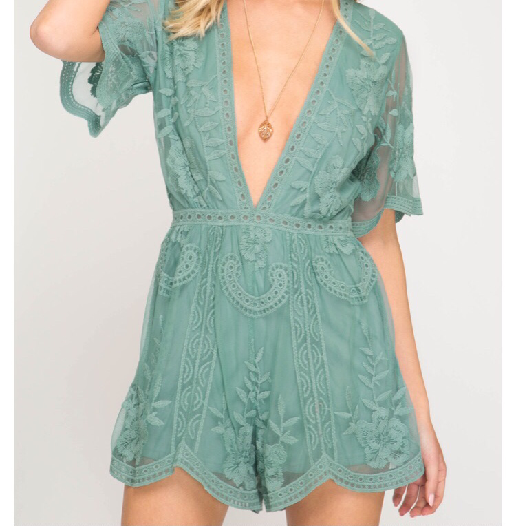 So Glad To See You Romper