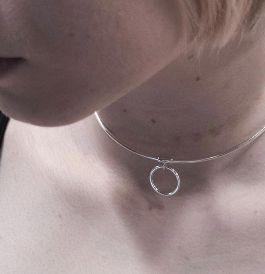 SUBMISSIVE COLLAR STERLING SILVER  (925) DISCREET O RING