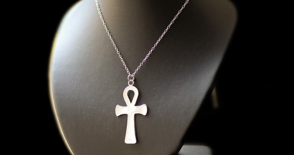 Silver Ankh Necklace, for Men and Women.