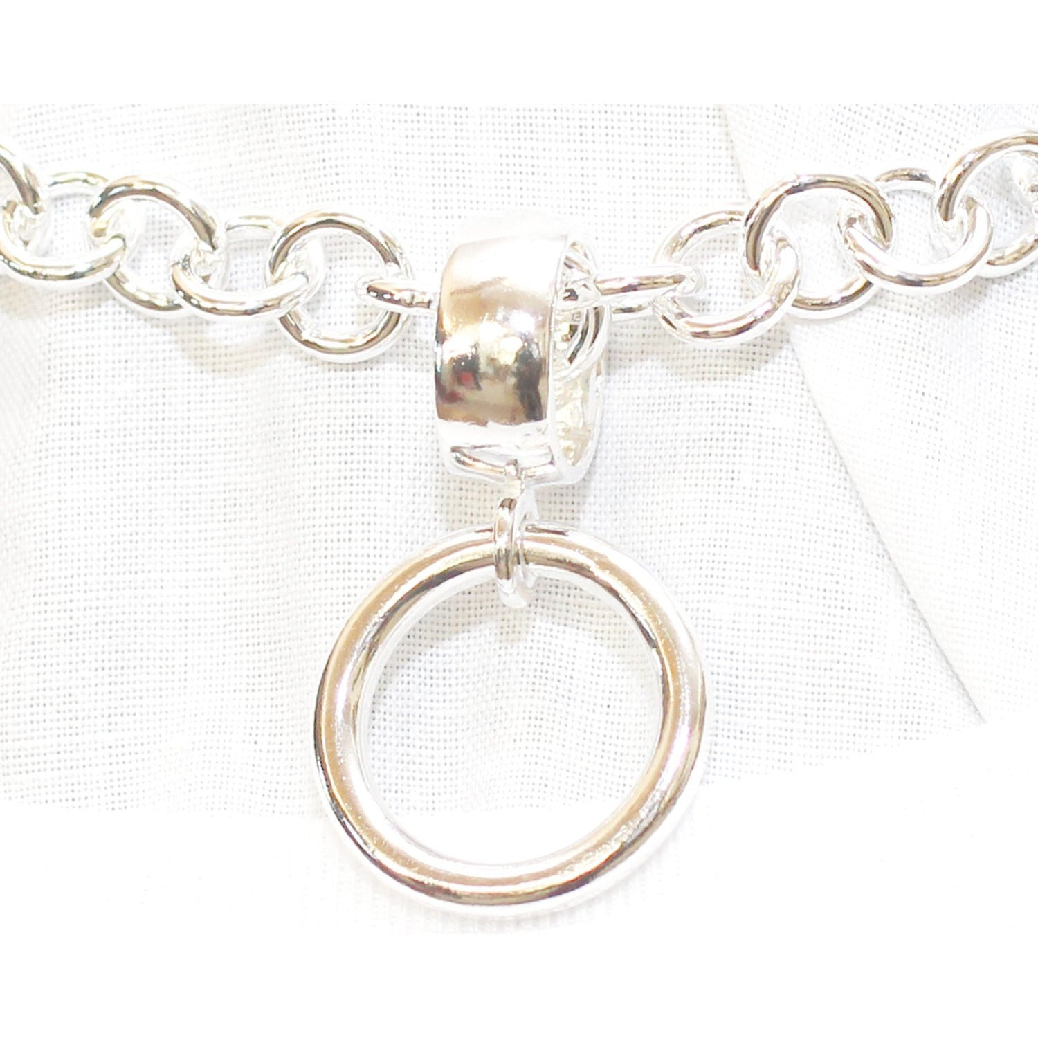 Collar O Ring, in Sterling Silver, Detachable Collar Ring, Ring Der O, Story of O ring.