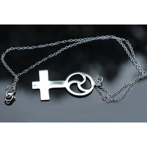 FEMALE & TRISKELION DOMME NECKLACE STERLING SILVER (925)