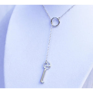 Sterling Silver, Lariat BDSM Triskele,  Working Key, BDSM Discreet Symbol, Handmade , boxed and gift wrapped
