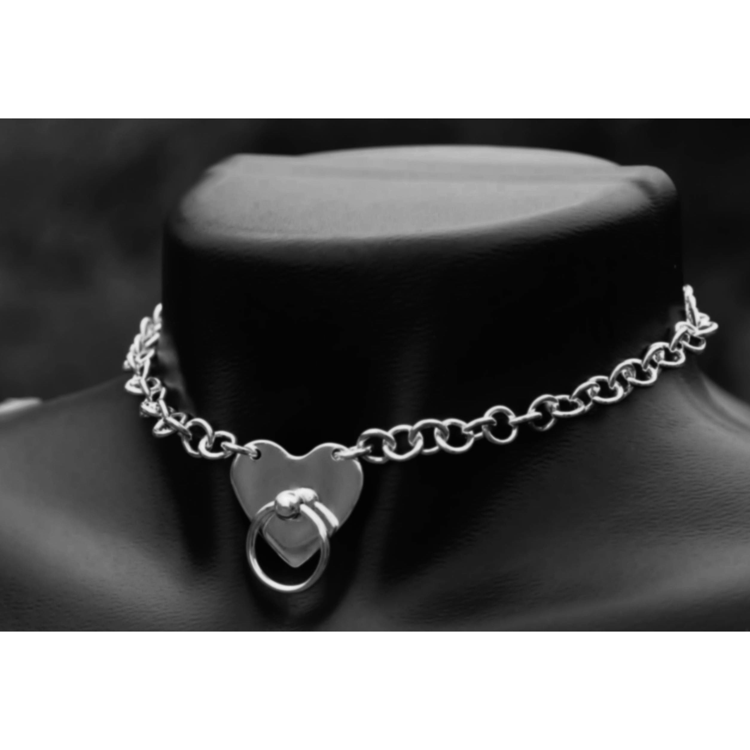 The Captive Heart Collar-Sterling Silver 30mm