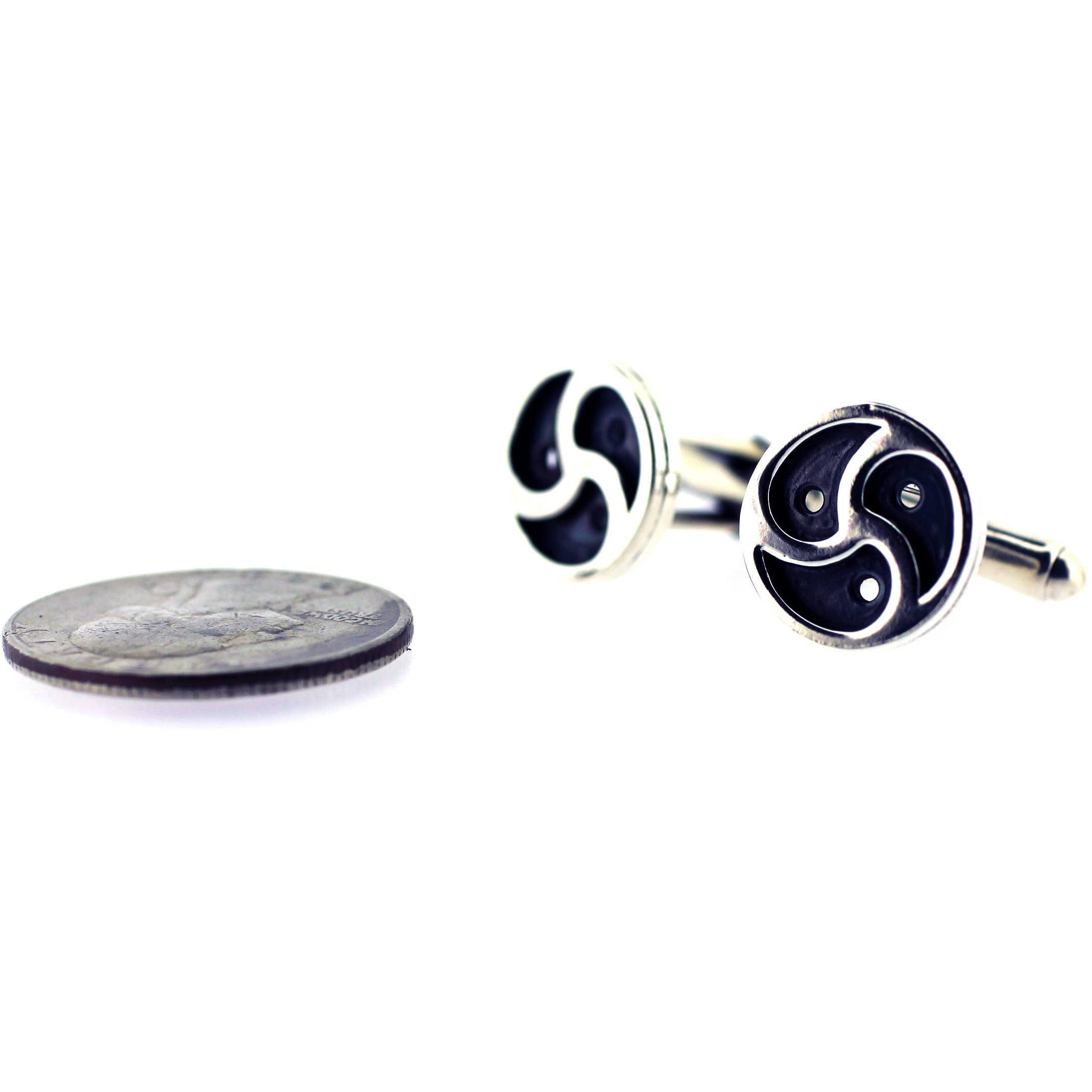Sterling Silver Bdsm Symbol/Emblem Cufflinks 15mm