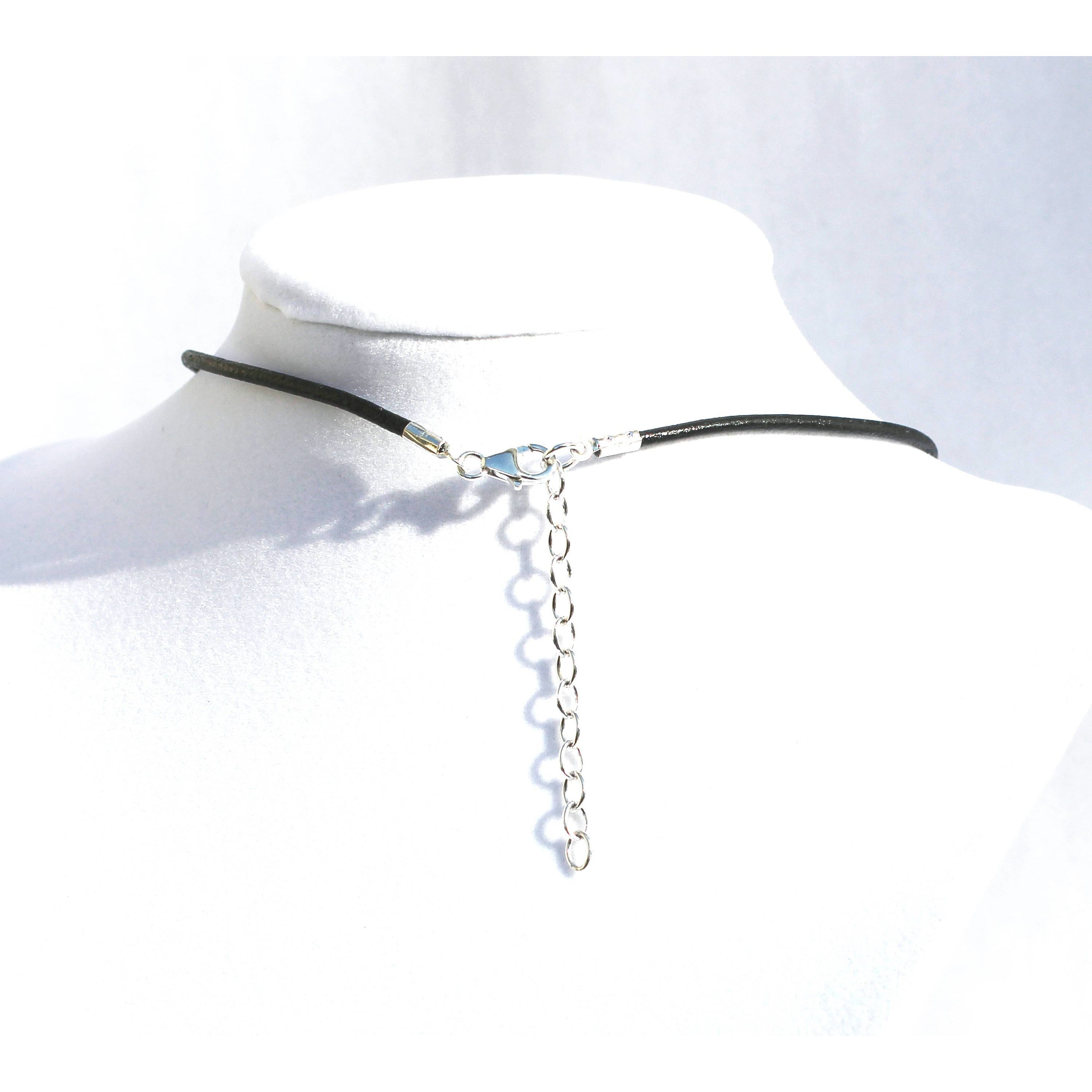 Discrete Day collar choker, Sterling Silver O Ring, Leather Cord, Unisex-Day Collar, Public Collar, Submissive Necklace