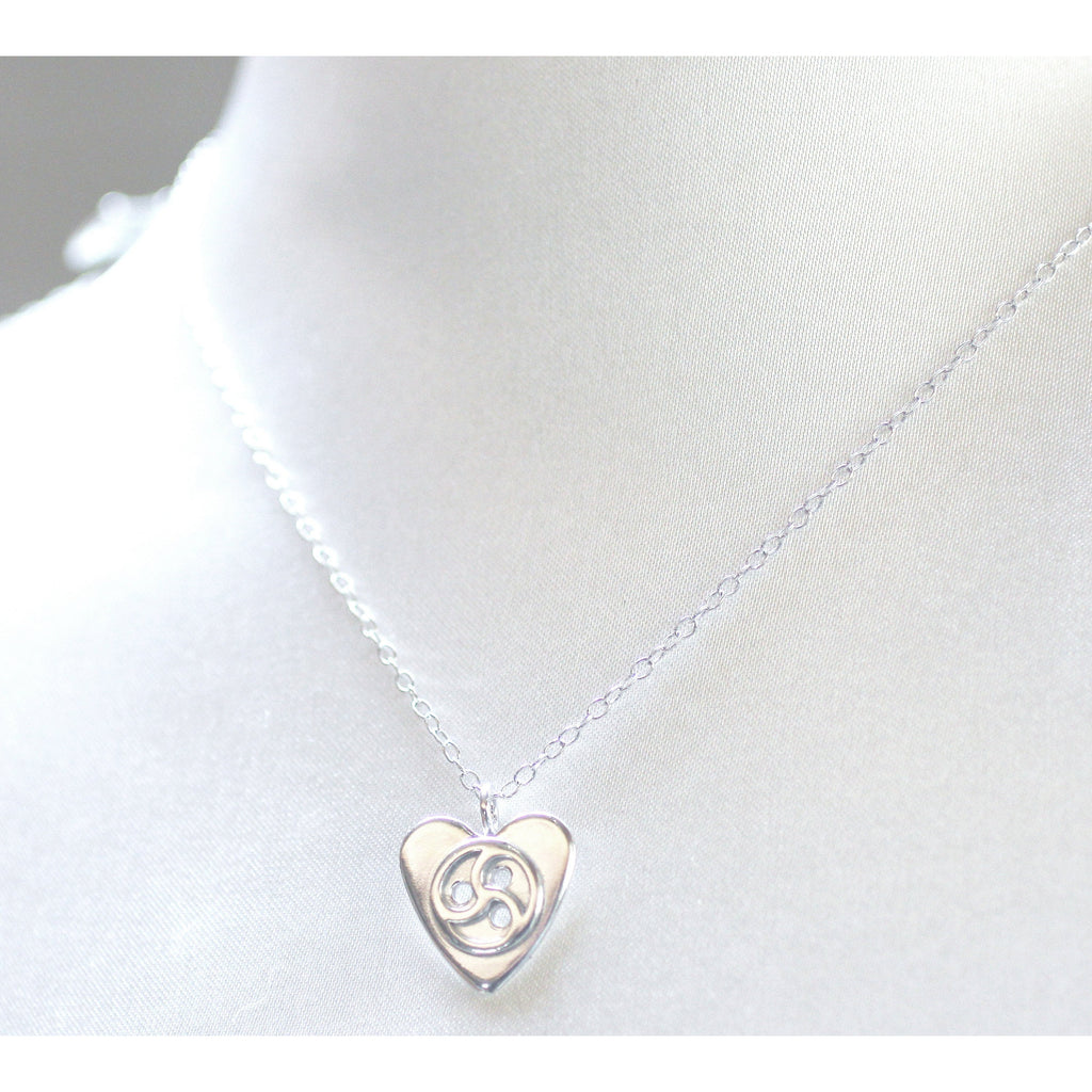 Sterling Silver BDSM Lover Pendant & Chain-Unisex