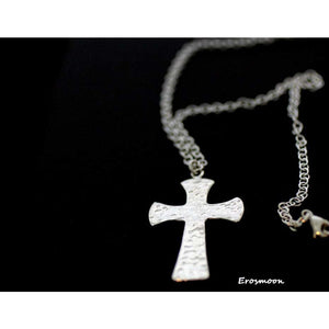 Sterling Silver, Gothic Cross, Large, Hammered Gothic Cross, Trinity Cross. , boxed and gift wrapped