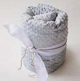 Grey Minky Weighted Blanket