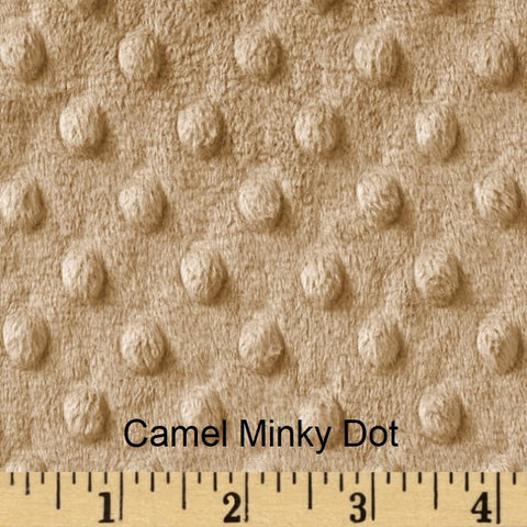 Camel Minky Weighted Blanket